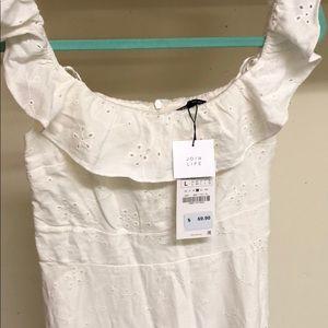 Zara Dresses - White Zara dress, new with tags on.